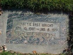 Hattie Leah <I>East</I> Wright