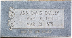 Ann <I>Davis</I> Dalley