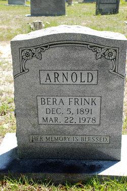 Bera J <I>Frink</I> Arnold