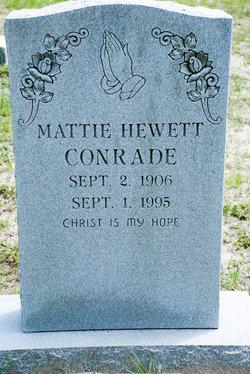Mattie Larue <I>Hewett</I> Conrade
