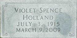 Violet <I>Spence</I> Holland