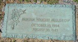 Miriam <I>Wright</I> Muldrow