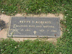 Betty Belle <I>Thompson</I> Roberts