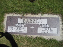Ruth Alberta <I>Hanson</I> Barzee