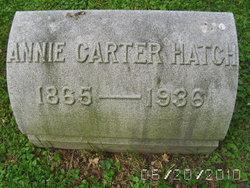 "Anna Josephine ""Annie"" <I>Carter</I> Hatch"