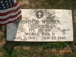 PFC John D Widner