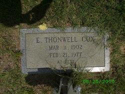 E Thonwell Cox