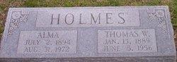 Mary Alma <I>Phillips</I> Holmes