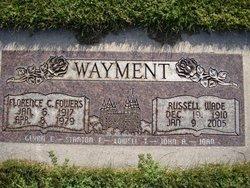 Florence C <I>Fowers</I> Wayment