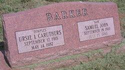 Ursie I. <I>Caruthers</I> Barker