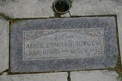 Alice <I>Denham</I> Burgess