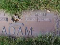 Bertha <I>Merle</I> Adam