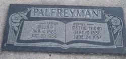 """Martha """"Mattie"""" <I>Thorn</I> Palfreyman"""