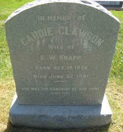 Caddie <I>Clawson</I> Knapp