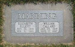 Elizabeth <I>Elliott</I> Manning