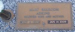 Mary Evelyn <I>Balcom</I> Adkins