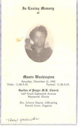 Mamie <I>McGee</I> Washington