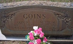 Nettie Mae <I>Rowe</I> Goins