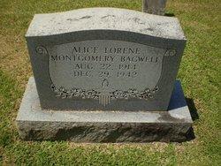 Alice Lorene <I>Montgomery</I> Bagwell