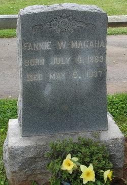 Fannie W <I>Kidwell</I> Magaha