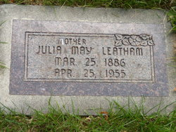 Julia May <I>Berry</I> Leatham