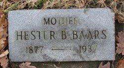 Hester Bertha <I>Byrnes</I> Baars