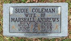 Sudie <I>Coleman</I> Andrews