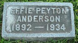 Effie <I>Peyton</I> Anderson