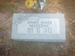 "Bertha May ""Mayme"" <I>Baker</I> Madding"