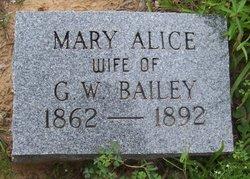 Mary Alice <I>Cahill</I> Bailey