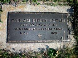 "Pvt William Ripley ""Rip"" Powell"