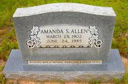 """Lily Amanda """"Mandy"""" <I>Sanders</I> Allen"""