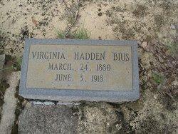 "Virginia Charity ""Jennie"" <I>Hadden</I> Bius"