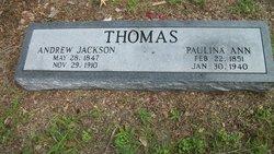 Paulina Ann <I>Tolleson</I> Thomas