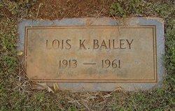 Lois K Bailey