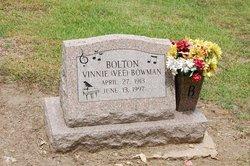 "Vinnie ""Vee"" <I>Bowman</I> Bolton"