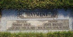 Sarah Rebecca <I>East</I> Wayment