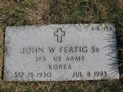 John W Fertig, Sr