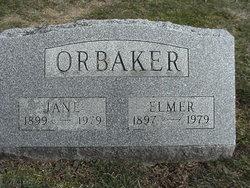 "Elizabeth Jane ""Jane"" <I>Lawrence</I> Orbaker"