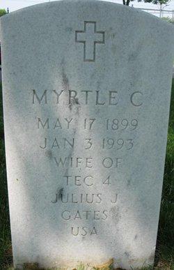 Myrtle Charlotte <I>Peterson</I> Gates