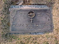 Sarah Jane Esther Hargis