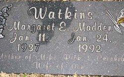 Margaret E. <I>Madden</I> Watkins