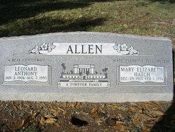 Mary Elizabeth <I>Hatch</I> Allen
