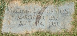 Virginia Lanier Bost