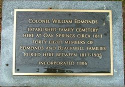 Colonel William Edmonds Family Cemetery