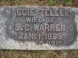 """Mrs Margaret L """"Maggie"""" <I>Zellers</I> Warren"""