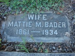 Mattie M. <I>Maholm</I> Bader