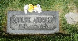 Caroline <I>Suderland</I> Anderson
