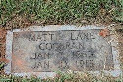 Mattie <I>Lane</I> Cochrane