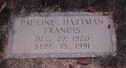 Ethel Pauline <I>Hartman</I> Francis